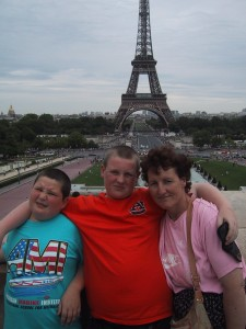 My Famiy on one of or Paris weekend trips