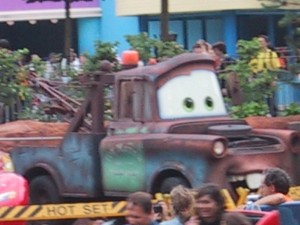 'Cars ride' at Disneyland on one of our Day trips