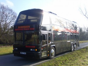One of our older neoplans, before upgrading to 13.8 metre high capacity ones